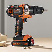 20 volt cordless lithium drill driver by black   decker
