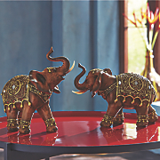 Set of 2 Elephant Figurines