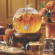 2 gallon glass pumpkin beverage dispenser