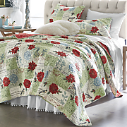 christmas melodie oversized quilt and sham