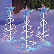 Set of 3 Christmas Tree Stakes