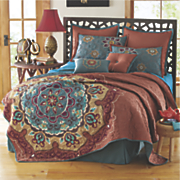 rajine quilt set and accent pillows