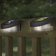 set of 2 solar fence post lights 12