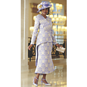 illiad hat and skirt suit