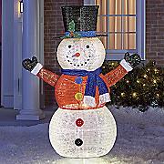 lit glitter snowman