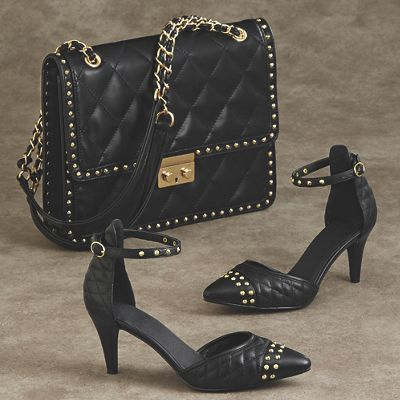 Evonna Quilted Bag and Pump