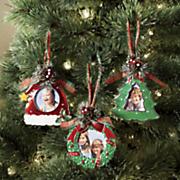 set of 3 photo ornaments