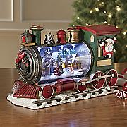 lit christmas train
