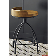blake short wood seat stool