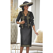 evonna hat and skirt suit