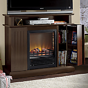 parker tv stand fireplace