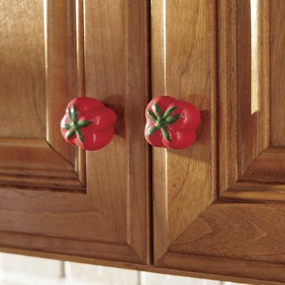 Set of 8 Tomato Knobs