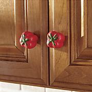 set of 8 tomato knobs