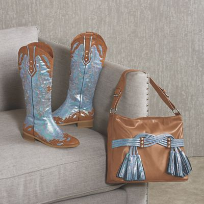 Heather Bag and Cowboy Boot