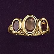 smokey quartz bezel ring