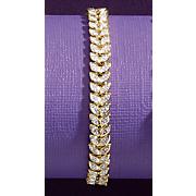Diamond Two-Tone Leaf Bracelet
