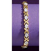Diamond Two-Tone X Bracelet
