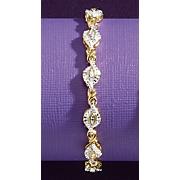 diamond x link bracelet