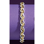 diamond two tone criss cross bracelet