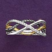 Diamond Two-Tone Swirl Ring