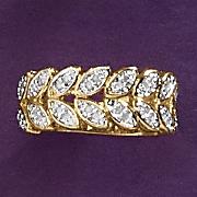 diamond leaf ring