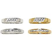 men s 10k gold 5 swirl diamond ring