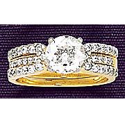 white topaz fitted bridal set