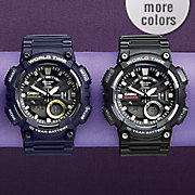 men s 3 d dial heavy duty watch by casio