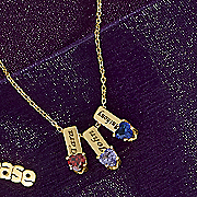 name birthstone charm necklace