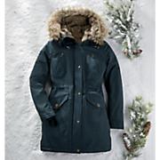 women s blue anorak coat