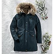 Women's Blue Anorak Coat