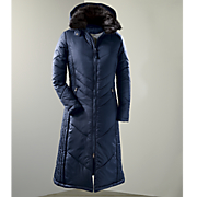 women s chevron quilted long coat
