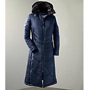 women s chevron quilted long coat