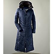 Women's Chevron Quilted Long Coat