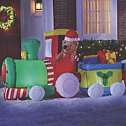 inflatable christmas train