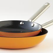set of 2 lightweight cast iron fry pans