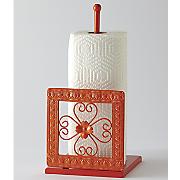 Mosaic Floral Paper Towel Holder