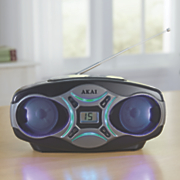 cd boom box with am fm radio by akai 12