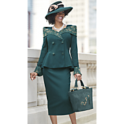 florence hat and skirt suit