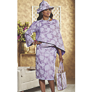 rienza hat and skirt suit