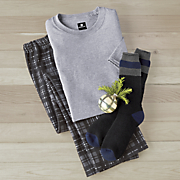 men s austin 2 pc  pj with sock
