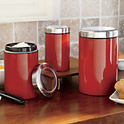 Set of 3 Steel Canisters