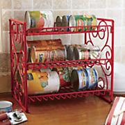 scrolled canned food storage rack