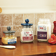 set of 3 kitchen phrase canisters