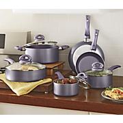 culinary edge 10 pc  metallic cookware set