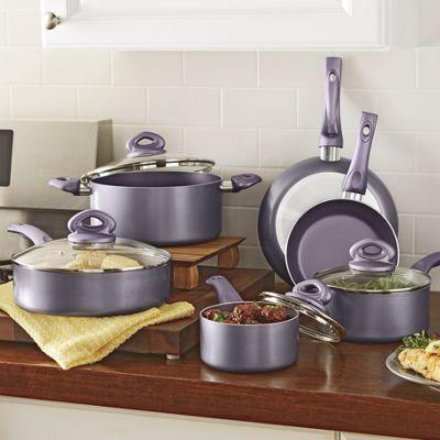Culinary Edge 10-Piece Metallic Cookware Set