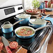 ginny s brand 10 pc  metallic nonstick aluminum cookware set