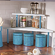 Set of 2 Stacked Corner Shelves