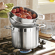 5-Piece Heavy-Guage Brushed Stainless Steel Pot Set