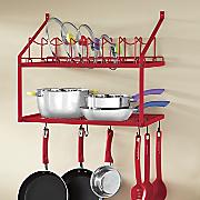 pot   lid wall rack